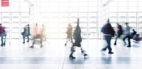 Rush Hour at a trade fair motion blur- Stock Photo or Stock Video of rcfotostock | RC-Photo-Stock