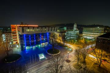 RWTH Aachen Campus at night : Stock Photo or Stock Video Download rcfotostock photos, images and assets rcfotostock | RC-Photo-Stock.: