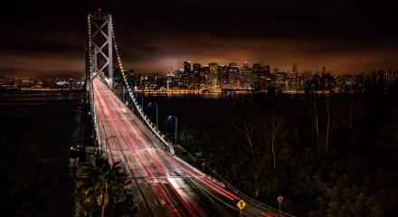 San Francuisco bei Nacht mit Oakland Bay Bridge,Skyline, USA, Kalifornien : Stock Photo or Stock Video Download rcfotostock photos, images and assets rcfotostock | RC-Photo-Stock.: