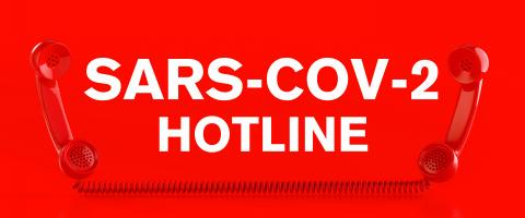 Sars-CoV-2 Corona Hotline, red phone hotline - calling for information about Coronavirus disease COVID-19- Stock Photo or Stock Video of rcfotostock | RC-Photo-Stock