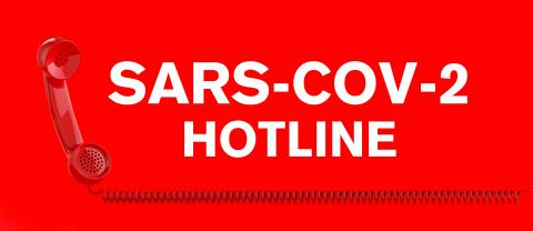 Sars-CoV-2 Coronavirus hotline with Covid-19 virus and a red telephone- Stock Photo or Stock Video of rcfotostock | RC-Photo-Stock