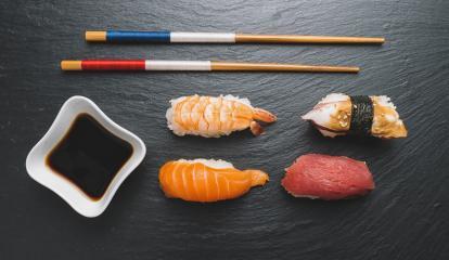 sashimi sushi set with chopsticks and soy- Stock Photo or Stock Video of rcfotostock | RC-Photo-Stock