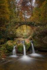 Schissentümpel im Herbst, Wasserfall, Luxemburg Brücke : Stock Photo or Stock Video Download rcfotostock photos, images and assets rcfotostock | RC-Photo-Stock.: