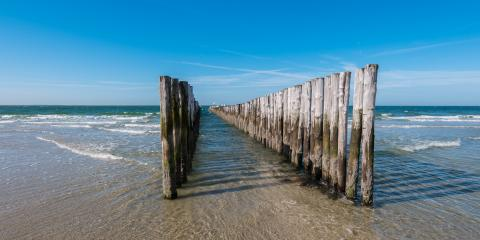 Seascape with breakwaters- Stock Photo or Stock Video of rcfotostock | RC-Photo-Stock