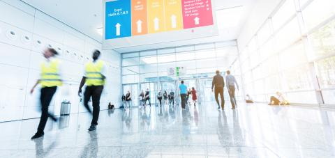 security service at a trade fair floor- Stock Photo or Stock Video of rcfotostock | RC-Photo-Stock