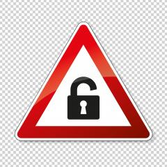 Security sign open Lock safe attention Infographic for privacy computer hacker, big data Concept or other concept design on checked transparent background. Vector illustration. Eps 10 vector file. : Stock Photo or Stock Video Download rcfotostock photos, images and assets rcfotostock | RC-Photo-Stock.: