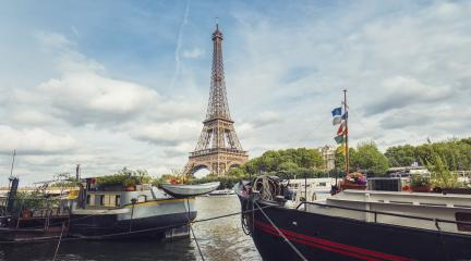 Seine in Paris with Eiffel tower at a cloudy summer day : Stock Photo or Stock Video Download rcfotostock photos, images and assets rcfotostock | RC-Photo-Stock.: