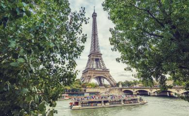 Seine in Paris with Eiffel tower at summer- Stock Photo or Stock Video of rcfotostock | RC-Photo-Stock