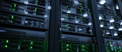 Server units in cloud service data center showing flickering light indicators for massive data connection bandwidth, close up shot- Stock Photo or Stock Video of rcfotostock | RC-Photo-Stock