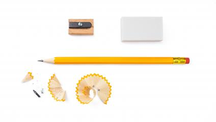set of writing tools, pencil, eraser and sharpener isolated on white background- Stock Photo or Stock Video of rcfotostock | RC-Photo-Stock