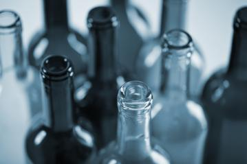 several wine bottles in blue color- Stock Photo or Stock Video of rcfotostock | RC-Photo-Stock