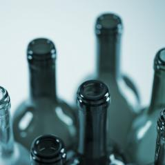 several wine bottles in blue colors- Stock Photo or Stock Video of rcfotostock | RC-Photo-Stock