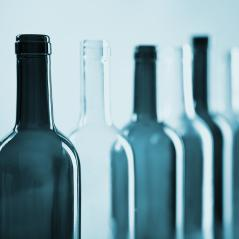 several wine glass bottles in a row in blue color : Stock Photo or Stock Video Download rcfotostock photos, images and assets rcfotostock | RC-Photo-Stock.: