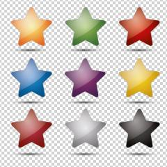 shiny glossy colorful stars set on checked transparent backgroun- Stock Photo or Stock Video of rcfotostock | RC-Photo-Stock