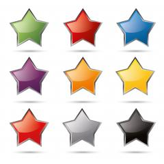 shiny glossy colorful stars set. Vector illustration. Eps 10 vector file.- Stock Photo or Stock Video of rcfotostock | RC-Photo-Stock