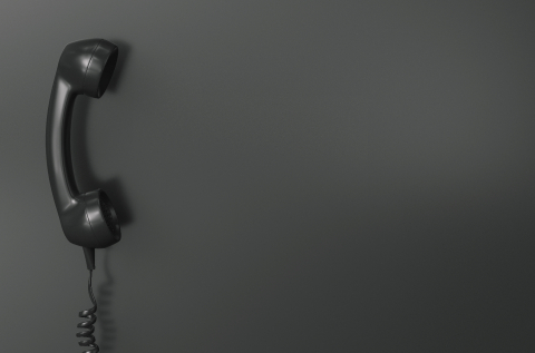 Shot of a black telephone receiver with copy space for individual text- Stock Photo or Stock Video of rcfotostock   RC-Photo-Stock