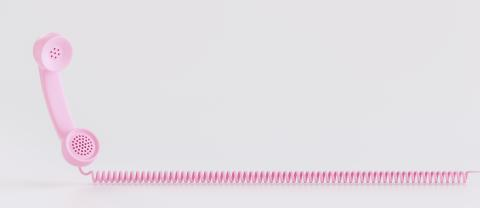 Shot of a pink landline telephone receiver with copy space for individual text- Stock Photo or Stock Video of rcfotostock | RC-Photo-Stock