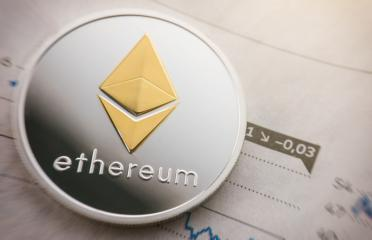 Silver ethereum coin cryptocurrency on a exchange chart- Stock Photo or Stock Video of rcfotostock | RC-Photo-Stock