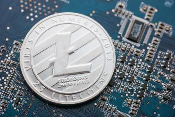 Silver Litecoin cryptocurrency, digital money- Stock Photo or Stock Video of rcfotostock | RC-Photo-Stock