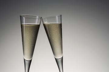 Silvester toast with cold champagne- Stock Photo or Stock Video of rcfotostock | RC-Photo-Stock