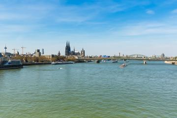 Skyline of cologne at spring : Stock Photo or Stock Video Download rcfotostock photos, images and assets rcfotostock | RC-Photo-Stock.: