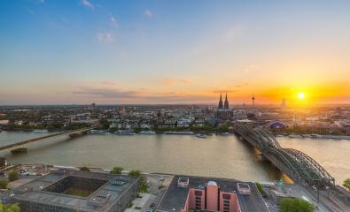 Skyline of cologne at sunset- Stock Photo or Stock Video of rcfotostock | RC-Photo-Stock