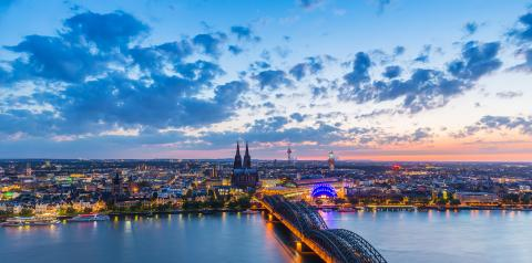 skyline of cologne city at sunset- Stock Photo or Stock Video of rcfotostock | RC-Photo-Stock