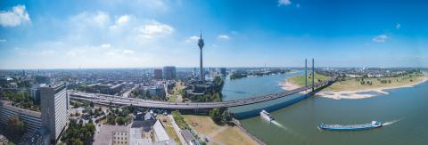 skyline of Dusseldorf in Germany panorama : Stock Photo or Stock Video Download rcfotostock photos, images and assets rcfotostock | RC-Photo-Stock.: