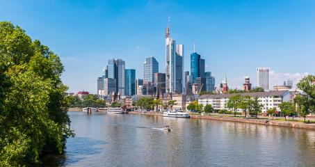 Skyline of Frankfurt am Main at summer, Germany- Stock Photo or Stock Video of rcfotostock | RC-Photo-Stock