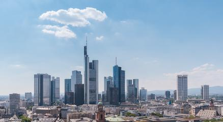 Skyline of Frankfurt am Main financial district in Germany - Stock Photo or Stock Video of rcfotostock | RC-Photo-Stock