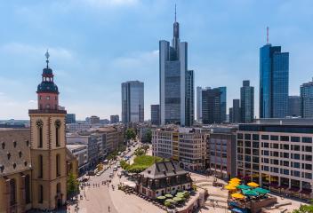 Skyline of Frankfurt, Germany- Stock Photo or Stock Video of rcfotostock | RC-Photo-Stock