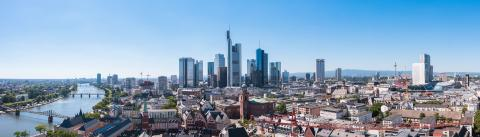 Skyline of Frankfurt Panorama, Germany, the financial center of the country- Stock Photo or Stock Video of rcfotostock | RC-Photo-Stock