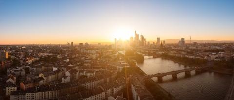 Skyline view at Sunset of Frankfurt am Main, germany- Stock Photo or Stock Video of rcfotostock | RC-Photo-Stock