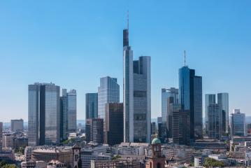Skyline view of the financial district in Frankfurt- Stock Photo or Stock Video of rcfotostock   RC-Photo-Stock