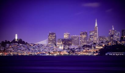 Skyline von San Francisco bei Nacht, USA, Kalifornien : Stock Photo or Stock Video Download rcfotostock photos, images and assets rcfotostock | RC-Photo-Stock.: