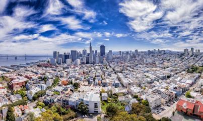 Skyline von San Francisco mit schönem Himmel, USA, Kalifornien : Stock Photo or Stock Video Download rcfotostock photos, images and assets rcfotostock | RC-Photo-Stock.: