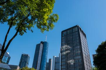 skyscraper building in the commercial district at Frankfurt- Stock Photo or Stock Video of rcfotostock | RC-Photo-Stock
