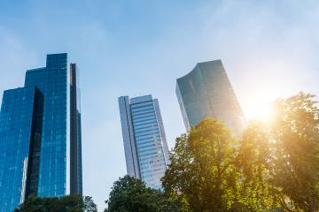 skyscrapers at Frankfurt am Main on a Suny summer day- Stock Photo or Stock Video of rcfotostock | RC-Photo-Stock