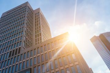 skyscrapers, business office buildings at sunset- Stock Photo or Stock Video of rcfotostock | RC-Photo-Stock