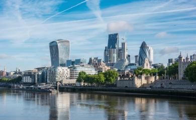 Skyscrapers of the City of London over the Thames , England- Stock Photo or Stock Video of rcfotostock | RC-Photo-Stock