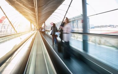 skywalk with blurred business people- Stock Photo or Stock Video of rcfotostock | RC-Photo-Stock