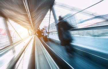 skywalk with blurred people- Stock Photo or Stock Video of rcfotostock | RC-Photo-Stock