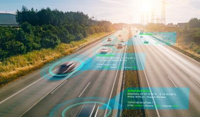Smart car (HUD) , Autonomous self-driving mode vehicle on highway road iot concept with graphic sensor radar signal system - Stock Photo or Stock Video of rcfotostock | RC-Photo-Stock