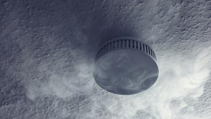 smoke detector with smoke closeup : Stock Photo or Stock Video Download rcfotostock photos, images and assets rcfotostock | RC-Photo-Stock.: