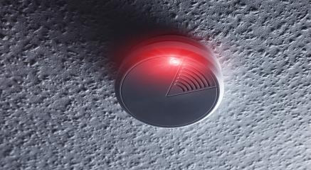 smoke detector with white red warning light- Stock Photo or Stock Video of rcfotostock | RC-Photo-Stock