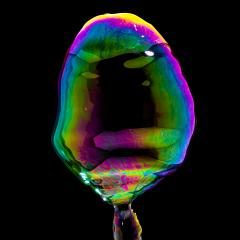 Soap Bubble in colorful colors on black background- Stock Photo or Stock Video of rcfotostock | RC-Photo-Stock
