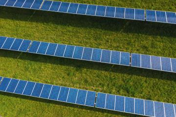 Solar energy farm. High angle view of solar panels on an energy farm- Stock Photo or Stock Video of rcfotostock | RC-Photo-Stock