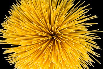 Spaghetti pasta twister on black : Stock Photo or Stock Video Download rcfotostock photos, images and assets rcfotostock | RC-Photo-Stock.: