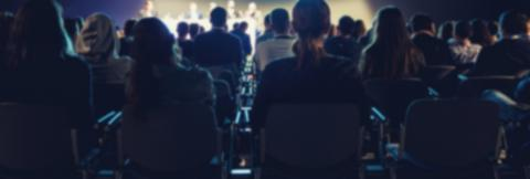 Speakers on the stage with Rear view of Audience in the conference hall or seminar meeting- Stock Photo or Stock Video of rcfotostock | RC-Photo-Stock
