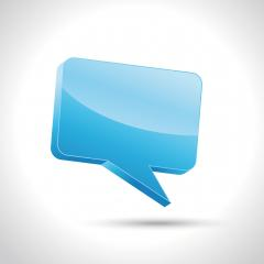 speech bubble in blue colors 3d. Vector illustration. Eps 10 vector file. : Stock Photo or Stock Video Download rcfotostock photos, images and assets rcfotostock | RC-Photo-Stock.: